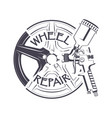 wheel repair sprey gun vector image