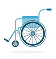 wheelchair flat material design isolated object vector image vector image