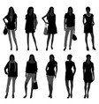 woman female girl fashion shopping model a set of vector image vector image