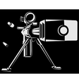 with directional sniper gun vector image
