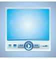 video player interface with glossy buttons vector image
