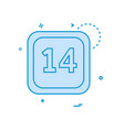 14 date calender icon design vector image vector image