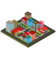 3d design for city scene with buildings vector image vector image
