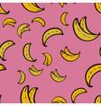 abstract pattern seamless yellow bananas vector image vector image