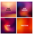 Abstract red pink blurred background set 4