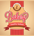 bakery stylish poster vector image vector image