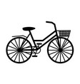 bicycle black silhouette vector image vector image
