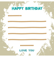 Birthday card2 vector image vector image