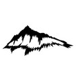 black silhouette mountain vector image vector image