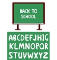 blackboard and alphabet vector image