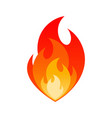 blazing fire flame gas explosion danger sign vector image vector image