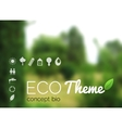 blurred landscape forest ecology label vector image vector image