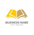 book knowledge sign logo vector image vector image