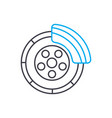 brake system thin line stroke icon brake vector image
