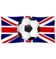 british flag and football vector image
