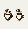 cafe coffeehouse logo or symbol coffee cup vector image vector image