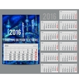 calendar 2016 - Planner for month vector image vector image