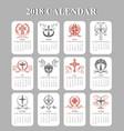 calendar template easter crucifix design vector image vector image