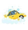 car wash concept vector image vector image