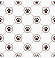 cats paw print vector image