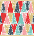 cold christmas color stamp pattern vector image