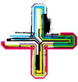 Colorful Grunge cross vector image vector image
