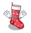 crazy cute christmas socks isolated on mascot vector image vector image