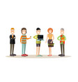 creative team people in flat vector image vector image