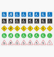 disabled handicap icons vector image