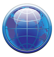 earth glode web button vector image vector image