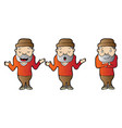 explainer adult male character design vector image vector image