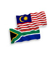 flags malaysia and republic south africa on vector image vector image