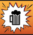 glass of beer sign comics style icon on vector image