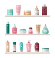 graphic set skin care cosmetics tube vector image