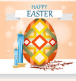 greeting card with russian easter with candles vector image