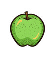 hand draw sketch fruit green apple isolated vector image