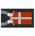 Hand made flag of Denmark vector image vector image