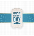 Happy Fathers Day festive Card Template vector image vector image