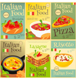 italian food posters set vector image