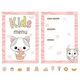 kids menu design kids menu design vector image vector image