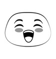 laugh emoji face icon vector image vector image