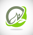 leaf ecology spa logo vector image