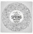 line art hand drawn set spring cartoon vector image