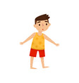 little kid with rash on his body boy with measles vector image vector image