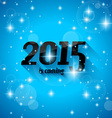 Modern Style 2015 New Year is coming background vector image vector image