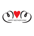 moms day headline with heart handmade calligraphy vector image vector image