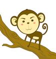 Monkey climb vector image vector image