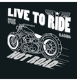 Motorcycle Racing Typography Graphics T-shirt vector image vector image