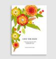 nature floral invitation vector image vector image
