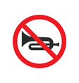 no horn sign image vector image